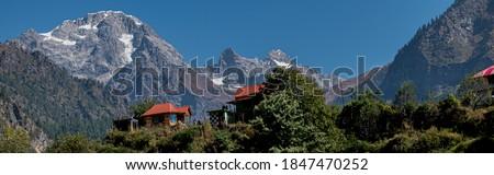Tosh village mountain panoramic view.
