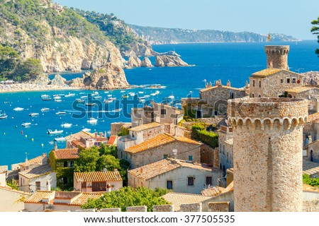 Shutterstock Tossa de Mar, Costa Brava, Spain.