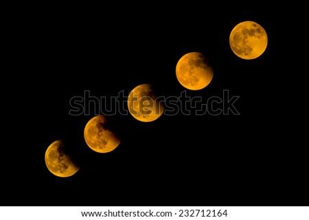 Total Lunar Eclipse 2014 on dark sky