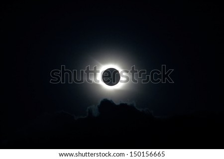 Total Solar Eclipse. High quality stock photo.