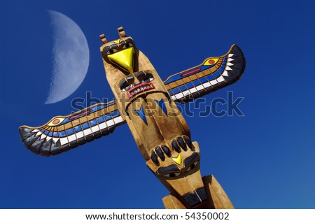 Totem and moon