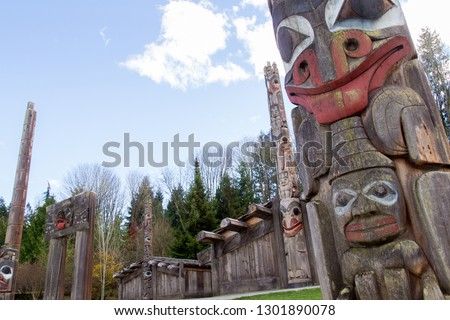 Totem Pole at the Museum of Anthropology. #1301890078