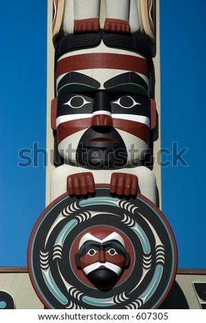 Totem pole in Northwest
