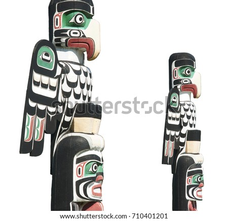 Totems, two totems with clipping path #710401201