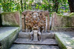 Totonac God of the Dead Sculpture at Anthropology Museum - Mexico City, Mexico