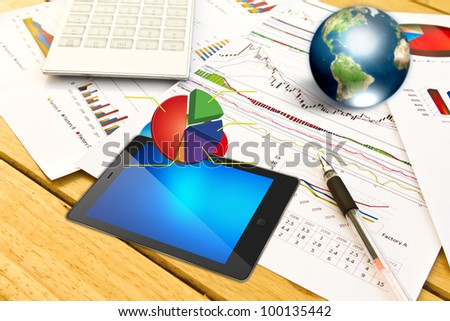 Touch pad and financial Graphs