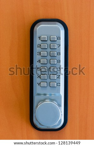 touch panel to activate the door lock