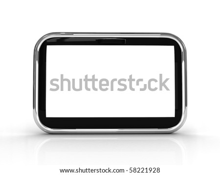 touch screen 3d rendered