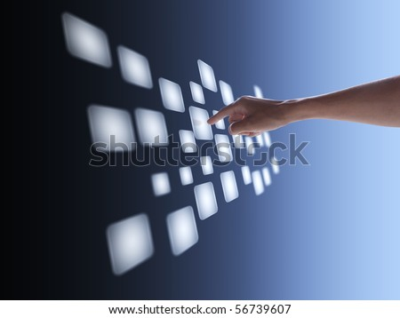 touch screen interface - stock photo