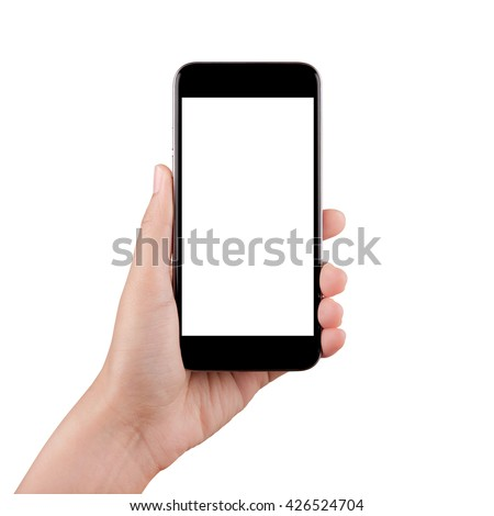 Shutterstock Touch screen mobile phone, in hand
