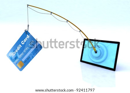 touch screen privacy security concept 3d illustration