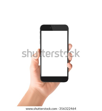 Touch screen smartphone in hand #356322464