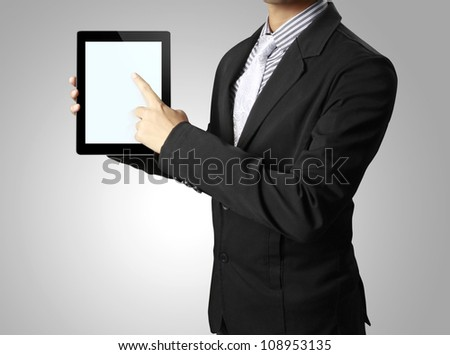 touch screen touch- tablet in hand