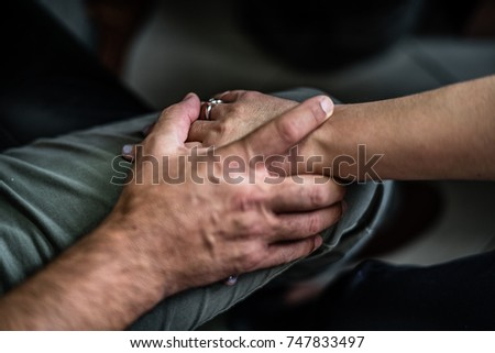 Touching hands. #747833497