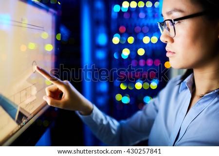 Touching lcd screen