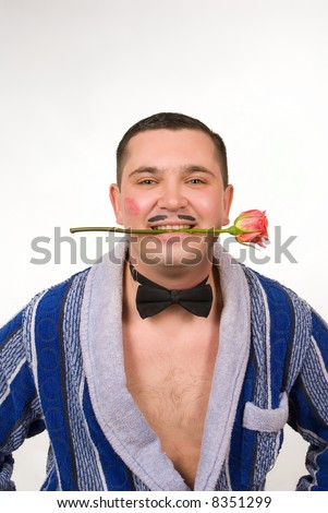 "tough young man playing ""machismo"" - stock photo"