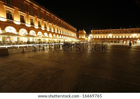 Toulouse Capitol, famous place in Toulouse, France