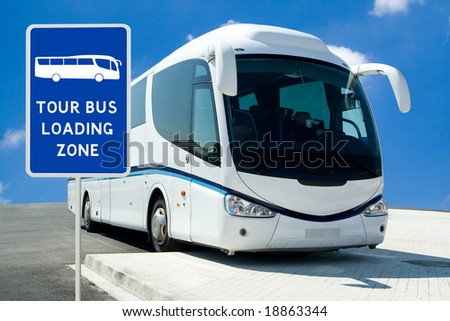 Tour Bus Loading Zone
