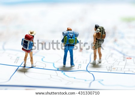 Tourism and travel concept. Macro photo