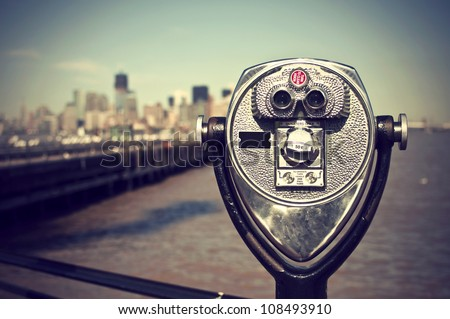 tourist binoculars at liberty...