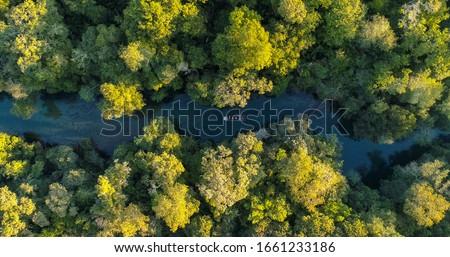 Photo of  Tourist boat in the river in Bonito state of Mato Grosso