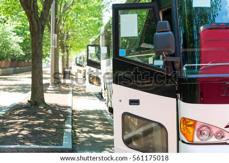 Tourist bus row.