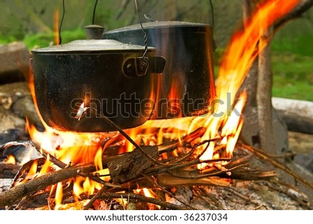tourist campfire