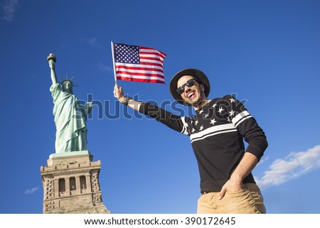 Stock Photo Tourist in New York