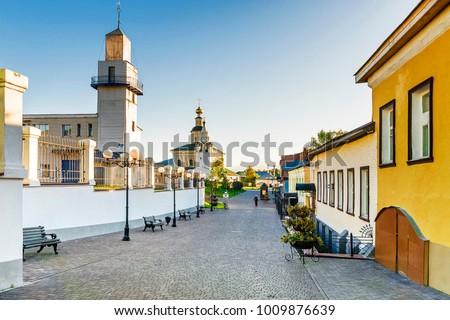 Tourist street of Vladimir. Gold ring of Russia