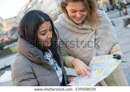 Tourist with Map in Prague