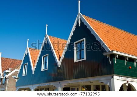Touristic town of Volendam in Holland