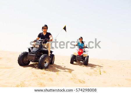 Tourists Riding Quad Bikes Stock photo ©