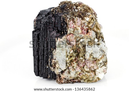 Tourmaline and muscovite mineral sample