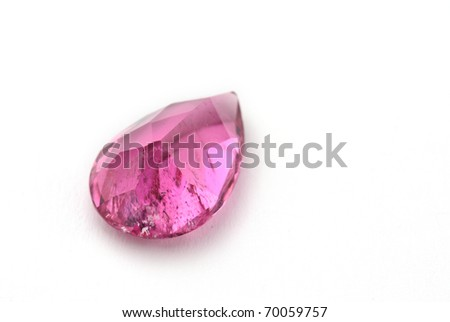 tourmaline Jewel isolated against a white background