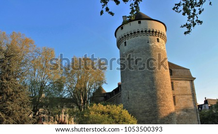 Tours city castle, Loire Valley - UNESCO world heritage, France