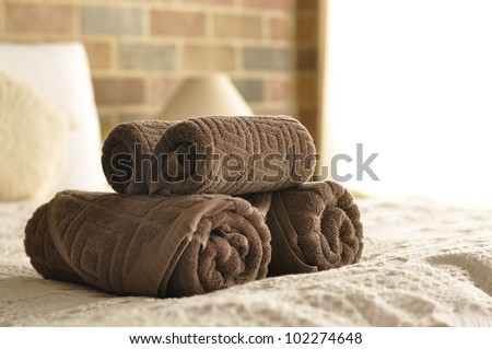 Towel in Hotel Room , Welcome guests , Room service