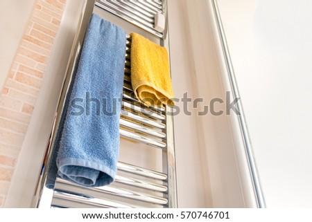 towel rail rack chrome fixture bathroom