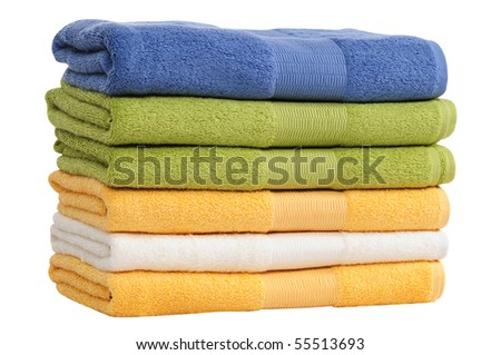Towel stack. Isolated
