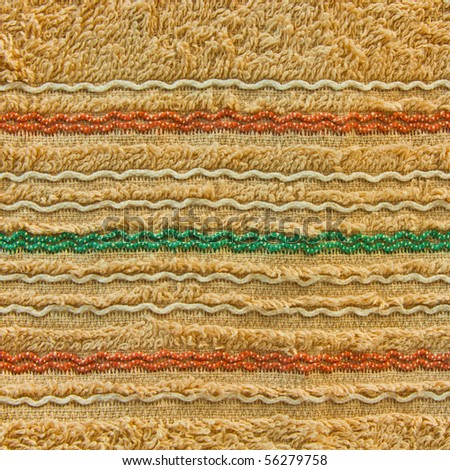towel texture with colorful line