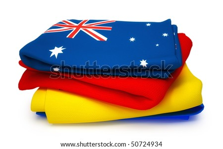 Towel with Australia flag