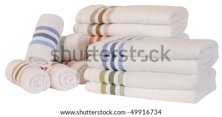 Towels. Isolated