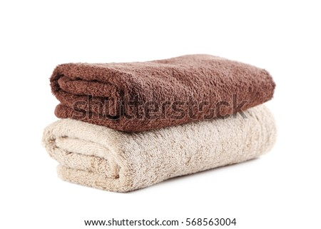 Towels isolated on a white background