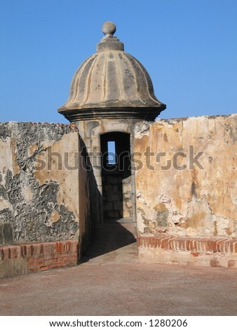 Tower at El Morro fort in Puerto Rico