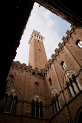 Tower at the piazza del campo in Sienna, Toscana, Italy