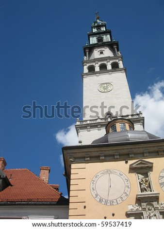 tower at the shrine of Our Lady of Czestochowa at Jasna Gora in Poland