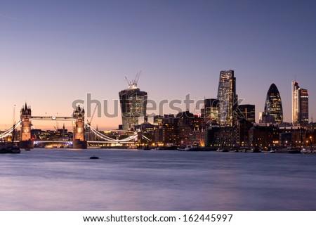 Tower Bridge And London Skyline