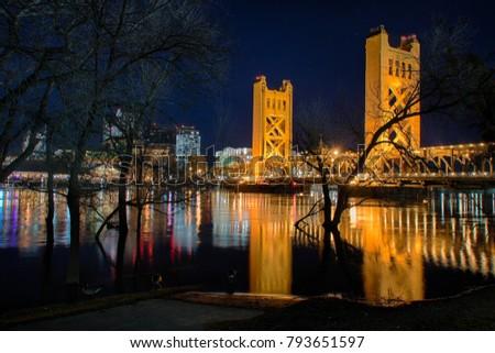 Tower Bridge and Sacramento River #793651597