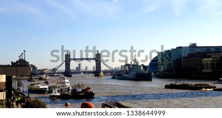 Tower bridge from London bridge #1338644999