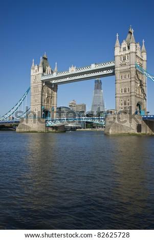 Tower Bridge. Historic bridge across the River Thames in London, England - stock photo