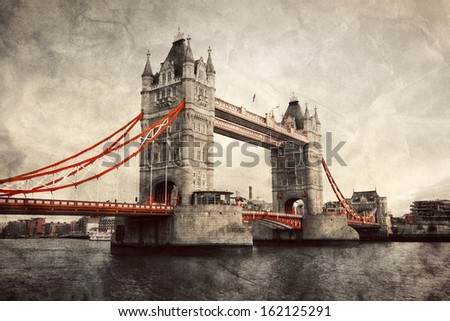 tower bridge in london  england ...